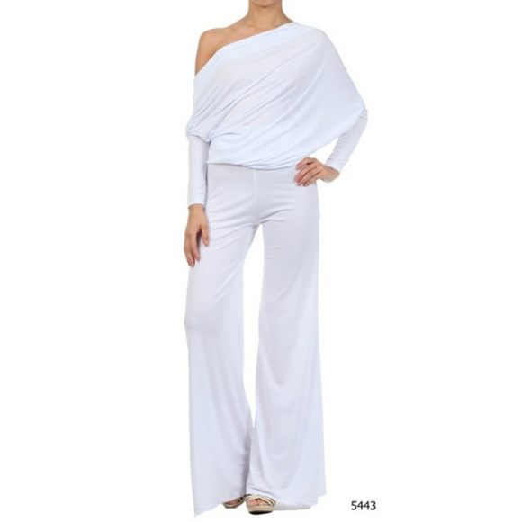 d40a34b8f Sexy Diva Pants   Multi Way White Womens Jumpsuit Romper   Poshmark