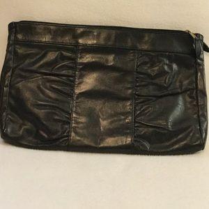 Handbags - Vintage Black Leather Clutch