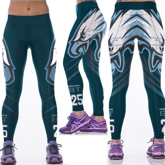 a5f47d8a Philadelphia Eagles 3D Gym Fitness Yoga Leggings NWT