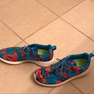 factory authentic a934c 90c7d ... amazon nike shoes nike roshe one orange blue green camo size 8 f494e  82b5d