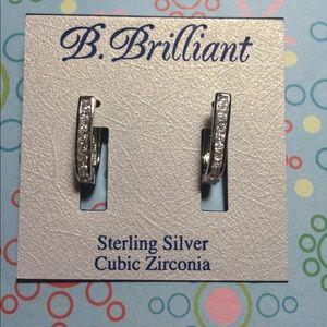 b. brilliant Jewelry - B. Brilliant Cubic Zirconia Hoop Earrings