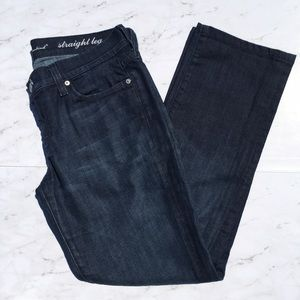 "7 For All Mankind Denim - 7 For All Mankind Size 29 28"" Straight Leg Jeans"