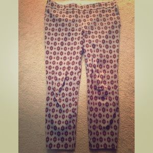 JCREW patterned pant