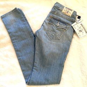 True Religion Denim - True Religion Light Wash Skinny Jeans