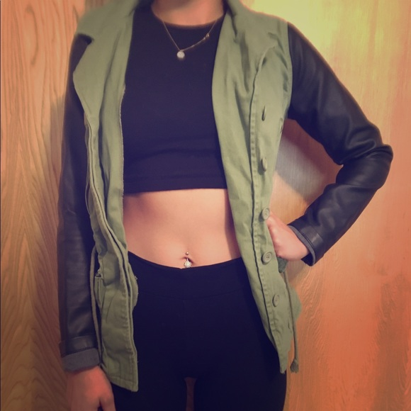 63 Off Material Girl Jackets Amp Blazers Green Utility