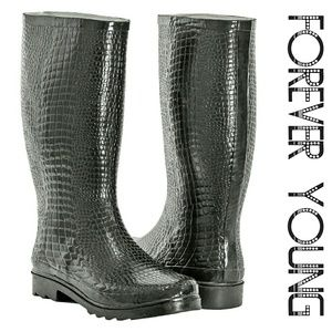 Women Tall Rainboots, #1415, Croco
