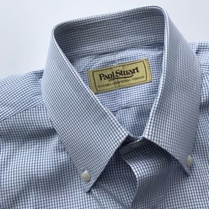 Paul Stuart Other - Paul Stuart Blue Check 15-33 1/2
