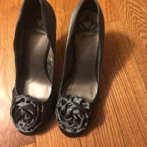 Grey fergalicious heels