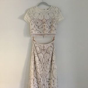 BCBGMaxAzria Dresses - BCBG Maris Sequin-Embroidered Two-Piece Gown