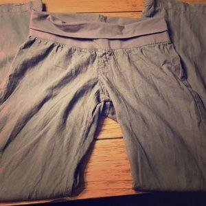 Old Navy Pants - Linen grey maternity pants