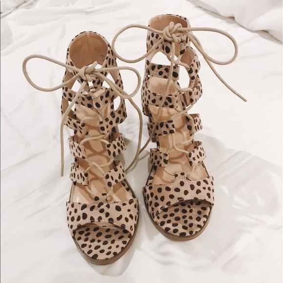 Cheetah Lace Up Heels