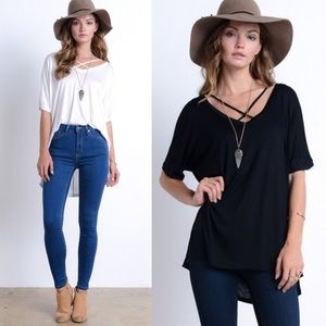 SYNDIE uber comfy top - BLACK