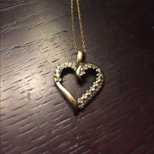 Kohls Jewelry - Gold and Diamond Heart Necklace