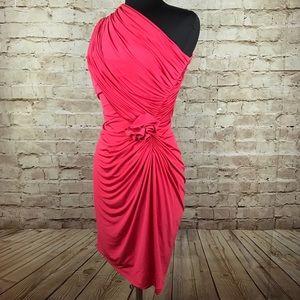 Tadashi Shoji Dresses & Skirts - Tadashi Shoji Ruched One Shoulder Bodycon Dress