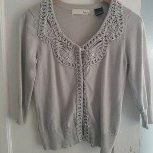 Kersh Sweaters - Grey snap closure cardigan