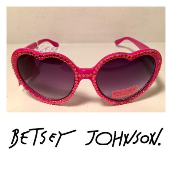 6a220faaaea Betsey Johnson Rhinestone Heart Sunglasses