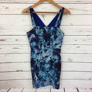 Silence + Noise Floral Cutout Mini Dress