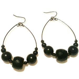 Jewelry - Black Bead Earrings