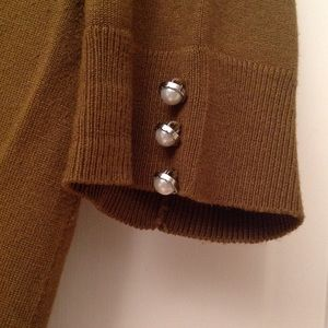 Audrey & Grace Sweaters - Moss Green 3/4 Sleeve Cardigan