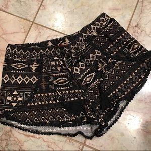 Tribal Bohemian Print Shorts