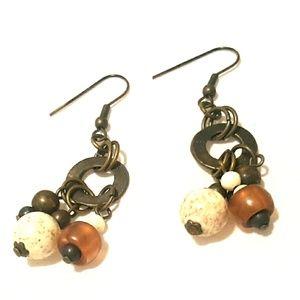 Jewelry - Bronze Beaded Earrings