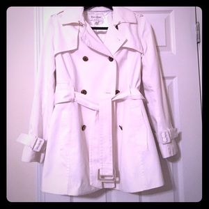 Banana Republic Rare Winter White Trench Coat
