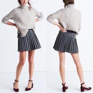 NWT Madewell shimmer pleated mini skirt