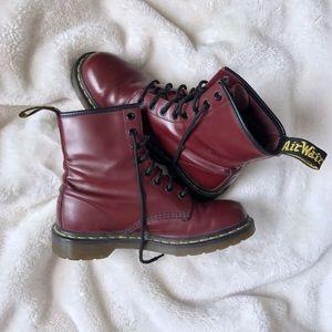 Dr. Martens Shoes - Doc Martens - Dark Red - Dr. Martens