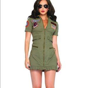 Top Gun sexy pilot zipper dress