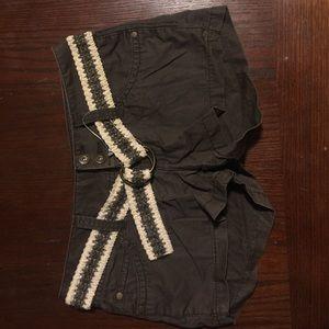 Mudd Pants - Mudd Juniors Size 1 Grey Shorts NWOT