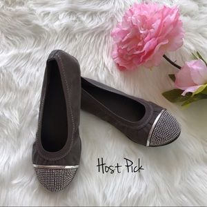 Kidpik Other - Embellished Cap-Toe Flats