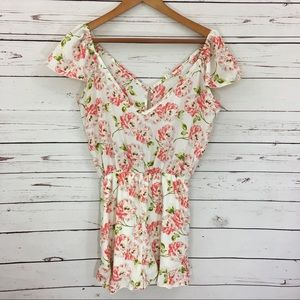 Pins & Needles Pants - Pins and Needles Floral Romper