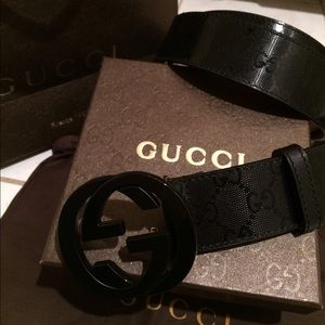 Gucci Other - New Authentic Gucci Imprime Shiny Belt