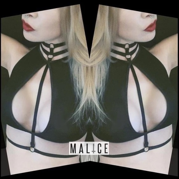 52e5996b99 Choker Harness Bra Double Caged Bralette