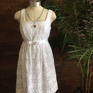 City Triangles Dresses & Skirts - City Triangles White Crochet Dress