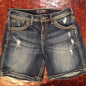 Silver Jeans Pants - Silver Jean Suki High Short Size 26