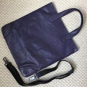 Armani Collezioni Handbags - Armani Collezioni Purple Calf Leather Bag