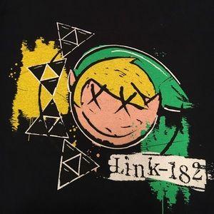 Nintendo Tops - Legend of Zelda and Blink 182 crossover shirt