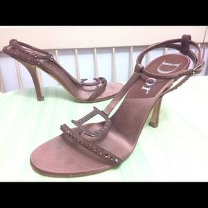 Christian Dior Shoes - Authentic Christian Dior Logo Rhinestone Heels
