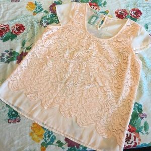 ⚡️Flash Sale⚡️ Lace blouse with sheer