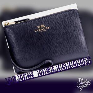 Coach Handbags - UNCOMMON PLUM DELICIOUS COACH WRISTLET RICH N TAST