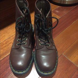 Dr martens 1460 8holes red vegan shoes boots