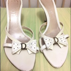 Christian Dior Shoes - Authentic Christian Dior Leather Bow Heels