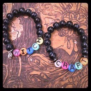 Blackmilk Jewelry - Handmade Beaded Bracelet Witchy Wiccan Goth Set
