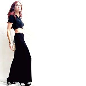 Fendi Dresses - Vintage Fendi Belted Crop Top & Wide-Leg Pants