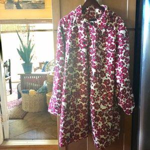 Lands' End Jackets & Blazers - Land's End Floral Raincoat NWOT