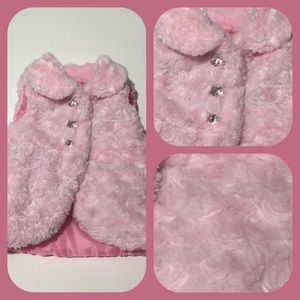 Other - Pink faux fur vest