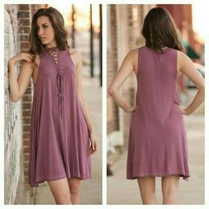 Infinity Raine Dresses & Skirts - NWT! Mauve Vintage Wash Tunic/Dress