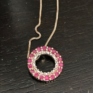 Vintage Jewelry - Ruby Necklace