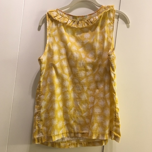 90 off boden tops sleeveless yellow flowy cotton boden for Boden yellow